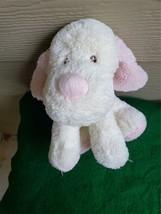 "Toys R US plush  Dog Stuffed Animal floppy Pink/White 10"" - $26.00"