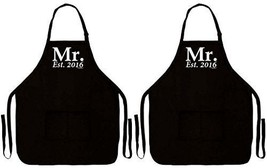 Wedding Shower Gift Mr. Established 2016 Gay Marriage Wedding 2 Pack Two... - $43.80
