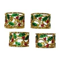 Lenox Holly and Berry Napkin Rings, Set of 4 HO... - $39.26