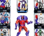 "Marvel Legends Series Captain America Red Onslaught BAF- Set of seven 6"" Action"