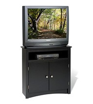television Black Tall Corner TV Cabinet Storage - $305.68