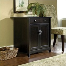 Sauder Edge Water Utility Cart/Free Standing Cabinet, Estate Black Finish - $270.38