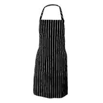 Bib Apron - DefenderX Adjustable Neck Strap Chalk Stripe with Pockets - ... - $27.60