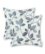 Set of 2 CaliTime Throw Pillow Covers 18 X 18 Inches Reversible, Big Lea... - £17.47 GBP