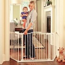 Baby Safety Gate Door Metal Extra Wide Walk Thr... - $178.60