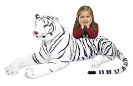 Toys Games Melissa & Doug White Tiger Plush Baby Toddler play - $138.14
