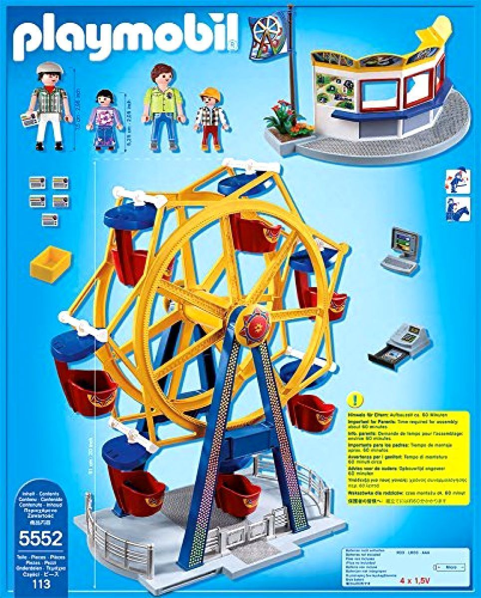 Action Figures PLAYMOBIL Ferris Wheel with Lights Set Games Toys boy