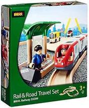 Toys Games BRIO Rail & Road Travel Set Baby Tod... - $109.66