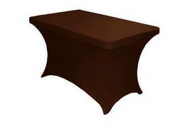 LA Linen Spandex Table Cloth for a 4-Feet Recta... - $106.16