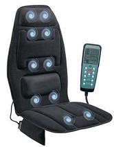 Black Massage Cushion Heat Back 10 Motor Chair Home Seat Motor Lumbar Au... - $102.02