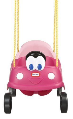 Pink Cozy Coupe Baby Toddler Swing Little Tikes Princess Car Swingset Newborn