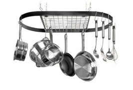 Hanging Cookware Pans Hook Ceiling Wrought-Iron... - $80.66