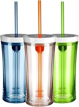 Contigo Shake and Go Tumbler, 16-Ounce, Monaco/Citron/Clear with Tangerine - $76.68