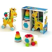 Toys Games Imaginarium Classic Wooden Toy Trio Baby Toddler play - $80.66
