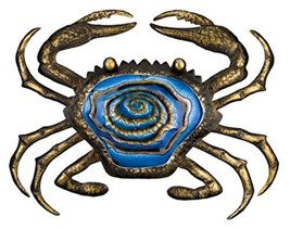 Patio Lawn Regal Art and Gift Bronze Crab Wall ... - $79.97