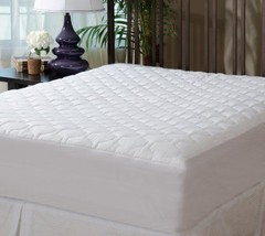 Bedroom King Size Fitted Mattress Pad Cover Quilted Comfortable Bed Shee... - $69.18