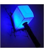 Thor Hammer Night Light The Avengers 3D Wall Art Home Lighting Lamp Ligh... - $69.18