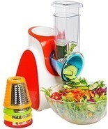 Electric Salad Maker Food Processor Vegetables Fruits Slicer Chopper Shr... - $86.06 CAD