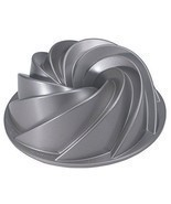 Decorative Cake Pan Heritage Bundt Swirls Baking Holiday Party Petals Bu... - $54.92