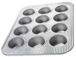 Baking/Cooking Kitchen Equipment 12-Cavity Cupcake/Muffin Pan Aluminized... - $1.019,55 MXN