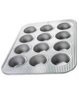 Baking/Cooking Kitchen Equipment 12-Cavity Cupcake/Muffin Pan Aluminized... - $982,15 MXN