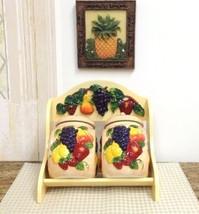 NEW 3-D MIxed Fruit Ceramic 2-Pcs Candy Jar and... - $46.18