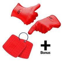 Molecule Gloves Silicone Heat Resistant Cooking... - $46.18