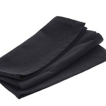Collection of 12 Square Solid Black Cafe Cloth ... - $46.18