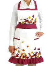 NEW Vera Full Two-Pocket Cotton Kitchen Apron ~ Brush Leaf HOME/Kitchen - $43.88