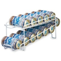 Can Beverage Dispenser Rack Soda Coke Beer Cans Storage Holder Organizer... - $40.30