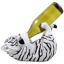 Wine Bottle Holder White Tiger Sculpture Storag... - $35.38