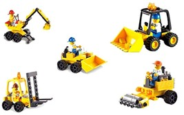 Construction Engineering Series 5-In-1 180pc Building Bricks Toy Set Fro... - $34.68