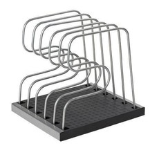 Adjustable Bakeware Sheet/lid Organizer Storage Rack Holder Kitchen Cabi... - $33.90