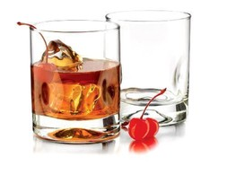 Glassware Home Heavy Sham 4-Pieces Impression Double Old Fashioned Clear... - $30.95