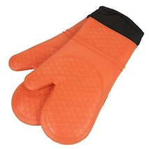Super Grip and Flex Cotton Lined Silicone Cooking Oven Mitt or Potholder... - $30.10