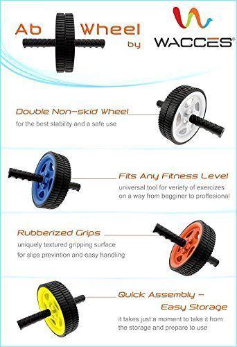 Workout Abs Roller Wheel AB Power Wheel Handles, Abdominal Exercise Wheel new