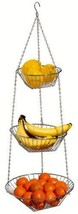 Fruit Basket Holder Rack Hanging 3 Tier Wire Bowl Storage Kitchen Organi... - $29.82