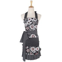 New Floral Pattern Double Layer 100% Cotton Cupcake Apron Women's Cookin... - $30.10