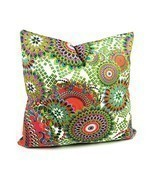 Benfan Cotton Canvas Decorative Square Throw Pillow Cover with Printed C... - £21.59 GBP