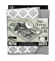 "Home Kitchen Organizer Microfiber Dish-Drying Mat 18x24"" Extra-Large Pad - $27.20"