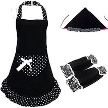 Kalevel Cotton Cloth Aprons for Women with Pockets Adult Kitchen Apron S... - $25.40