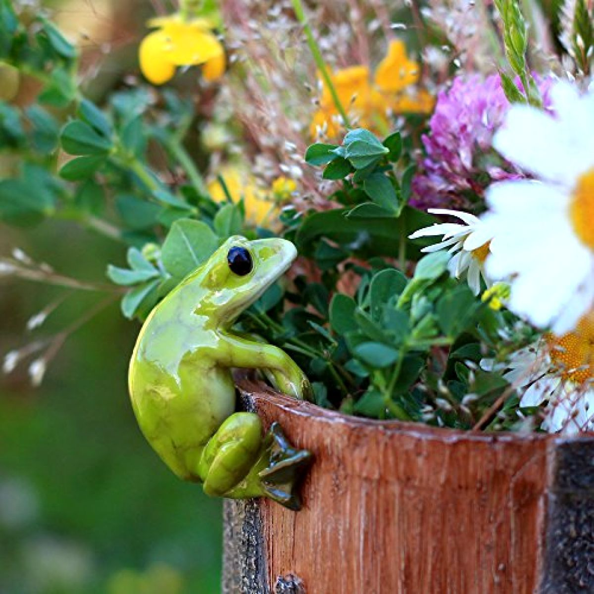 Top Collection Miniature Fairy Garden and Terrarium Frog Flower Pot and Vase Hug