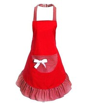 Cute Fashion Girls Home and Work Wear Red Aprons for Women Kitchen Resta... - $23.20