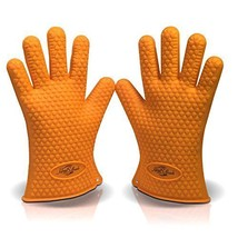 Silicone BBQ Grill Gloves - Heat Resistant - Best Oven Gloves - Great fo... - $22.06