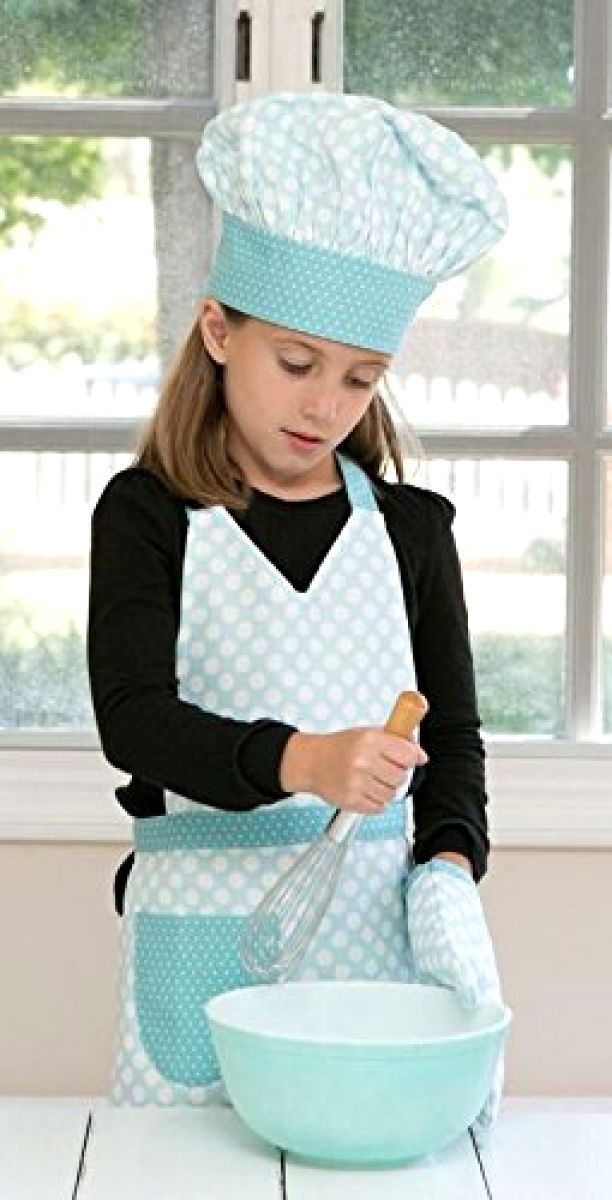 Kids Baking Handstand Kids Cooking Co. Child's Classic Polka Dot Oven Mitt