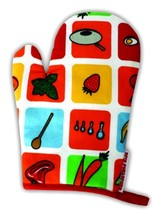 Kids Baking Handstand Kids Child's 'Eat Your Fruits and Veggies' Oven Mitt - $20.90