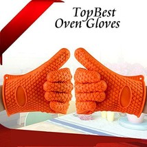 Topbest Kitchen Series Thickened Non-slip Silicone Gloves Microwave Oven... - $18.60