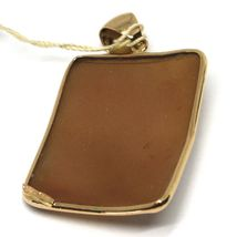 PENDANT ROSE GOLD 18K 750 CAMEO CAMEO SHELL RECTANGULAR, THANK YOU DANCING image 4
