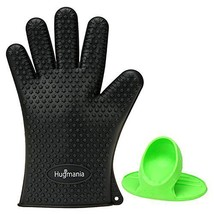 Heat Resistant Silicone BBQ Gloves Protective Oven Mitts Insulating Wate... - $18.60