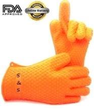 Grill Gloves, Silicone Premium Heat Resistant Cooking Gloves. Great for ... - $16.30